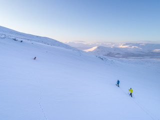skiing in the arctic mountains