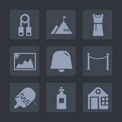 Premium set of fill icons. Such as glass, image, school, fashion, liquid, training, dessert, elegance, building, seminar, food, notification, estate, photo, summer, presentation, picture, drink, ice