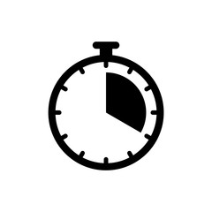 Timer clock icon ui simple style flat illustration