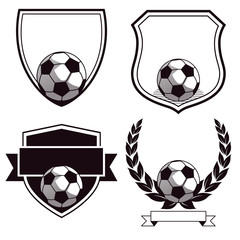 Satz Fußballclub Embleme