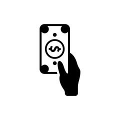 hand giving money icon vector