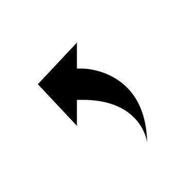 back icon, vector illustration. back button icon vector. back arrow icon