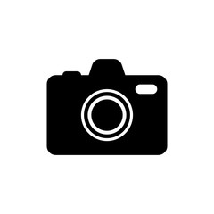 Camera icon, flat photo camera vector isolated. Modern simple snapshot photography sign. Instant Photo internet concept. Trendy symbol for website design. Logo illustration