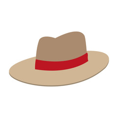 Vintage male hat vector illustration graphic design