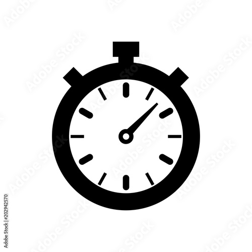 stopwatch icon, vector illustration  timer icon