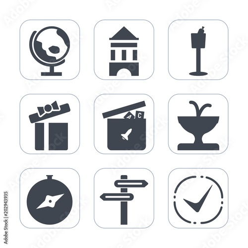 Premium Fill Icons Set On White Background Such As Drink
