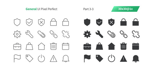 General UI Pixel Perfect Well-crafted Thin Line And Solid Icons 30 1x Grid for Web Graphics and Apps. Simple Minimal Pictogram Part 3-3
