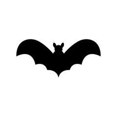 Bat icon silhouette vector illustration