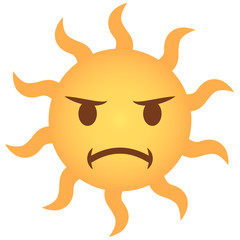 Emoji beleidigt - Sonne