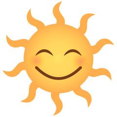 Sehr glückliches Emoji - Sonne