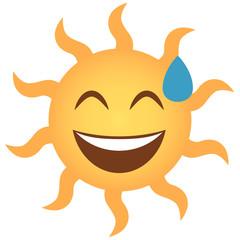 Emoji verlegen - Sonne