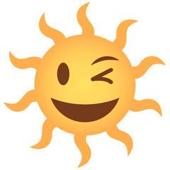 Emoji zwinkernd - Sonne