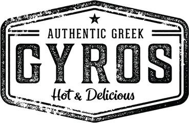 Vintage Greek Gyros Restaurant Sign