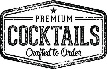 Vintage Cocktails Bar Sign