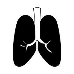 Human lungs isolated vector illustration graphic design