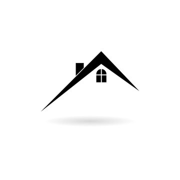 Home roof icon, Real estate symbol