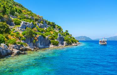Explore sunken city on Kekova Island, Turkey