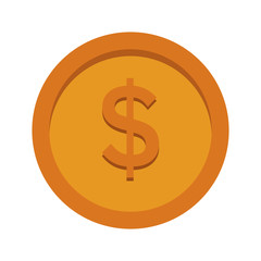 Coin money symbol vector illustration graphic design