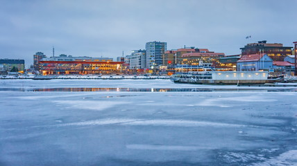 WInter view of Lulea city, Sweden