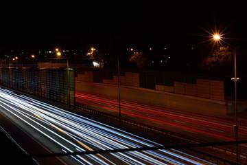 Obraz Autostrada nocą 2 - fototapety do salonu