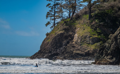 Coastal Rocks and Surfing