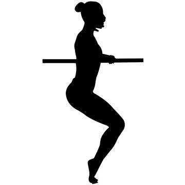 Barre silhouette, Barre clipart, Male Female Girl Boy Barre Fitness vector, Svg, png, eps,   jpg