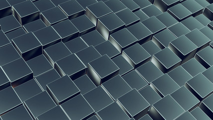 Cubes array as abstract 3d background
