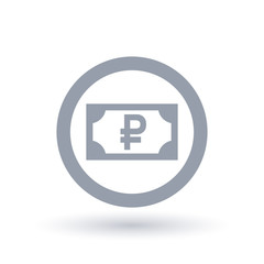 Russian Ruble money symbol - Russia paper currency icon