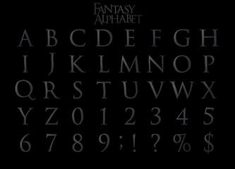 Fantasy Steel Alphabet - 3D illustation