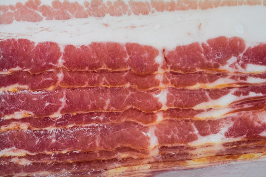 Bacons in plastic pack.