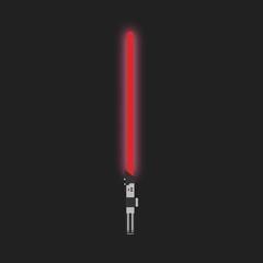 Lightsaber. Futuristic laser weapon sci-fi light saber