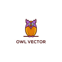 owl logo template vector illustration
