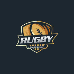 Rugby Logo template vector illustration