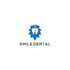 Smile dental logo design, Vector illustration for dental logo