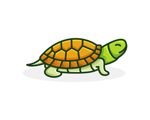 turtle icon logo template vector illustration