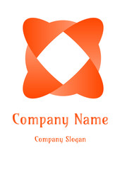 Geometric company logo, Square  emoji Orange