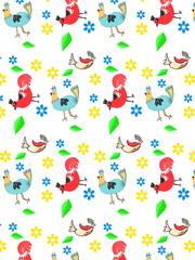 Bird and chicken pattern