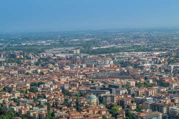 panorama of bergamo at sunset