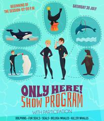 Dolphinarium Show Program Poster