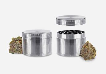 Medical Cannabis - Marijuana Herb Grinder Set - Isolated