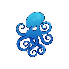 Octopus icon illustration