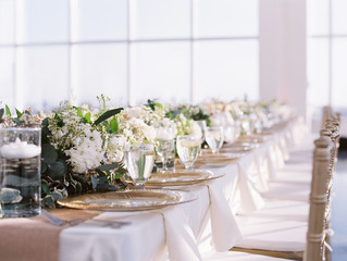 Elegant table prepared for banquet
