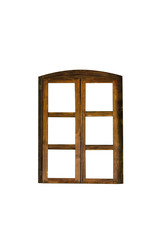 Old wooden window, isolated on white