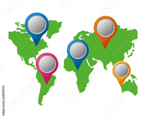 Pointers direction gps navigation world map vector illustration pointers direction gps navigation world map vector illustration gumiabroncs Images