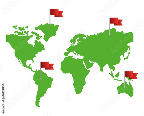 Novigation gps world map with pointers flags vector illustration novigation gps world map with pointers flags vector illustration gumiabroncs Image collections