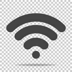WiFi vector icon on transparent  background. Wi-Fi logo illustration.