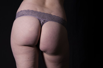 Bum in Grey Lingerie