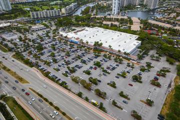 Aerial image Hallandale Beach FL Walmart