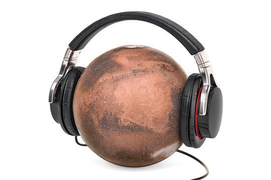 Mars with Headphones, 3D rendering