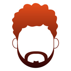Man faceless cartoon vector illustration graphic design